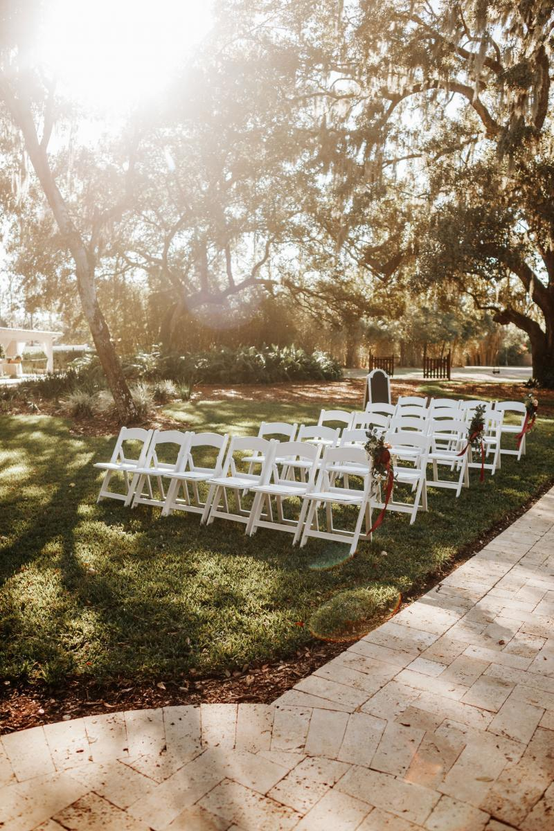 wedding ceremony at the French Country Inn