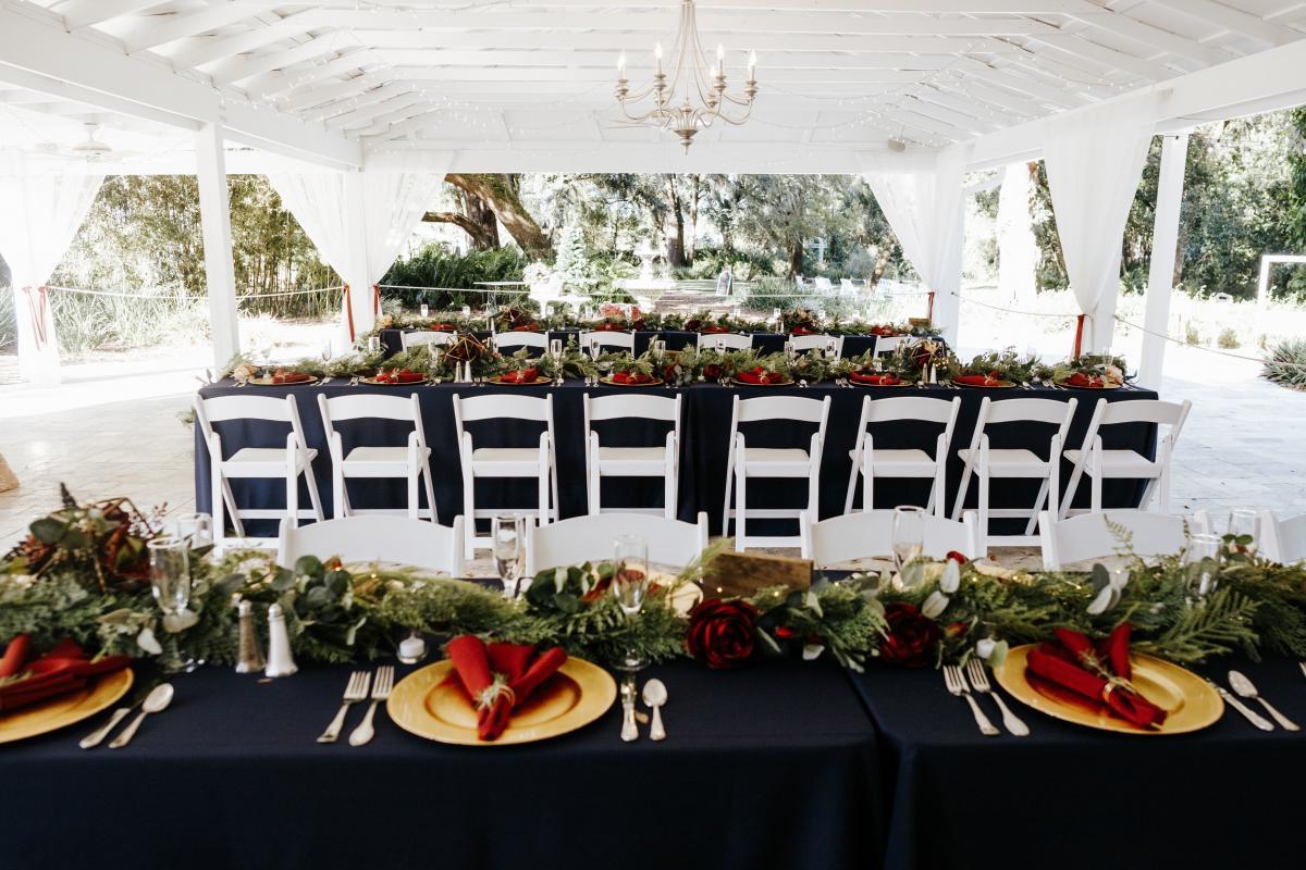 dreamy intimate wedding reception