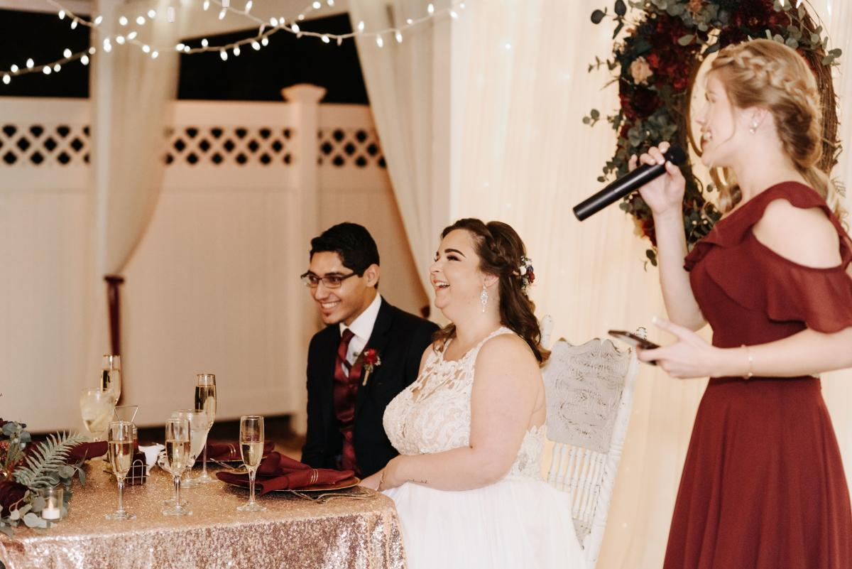 Wedding toasts for Merrisa and Jeremy
