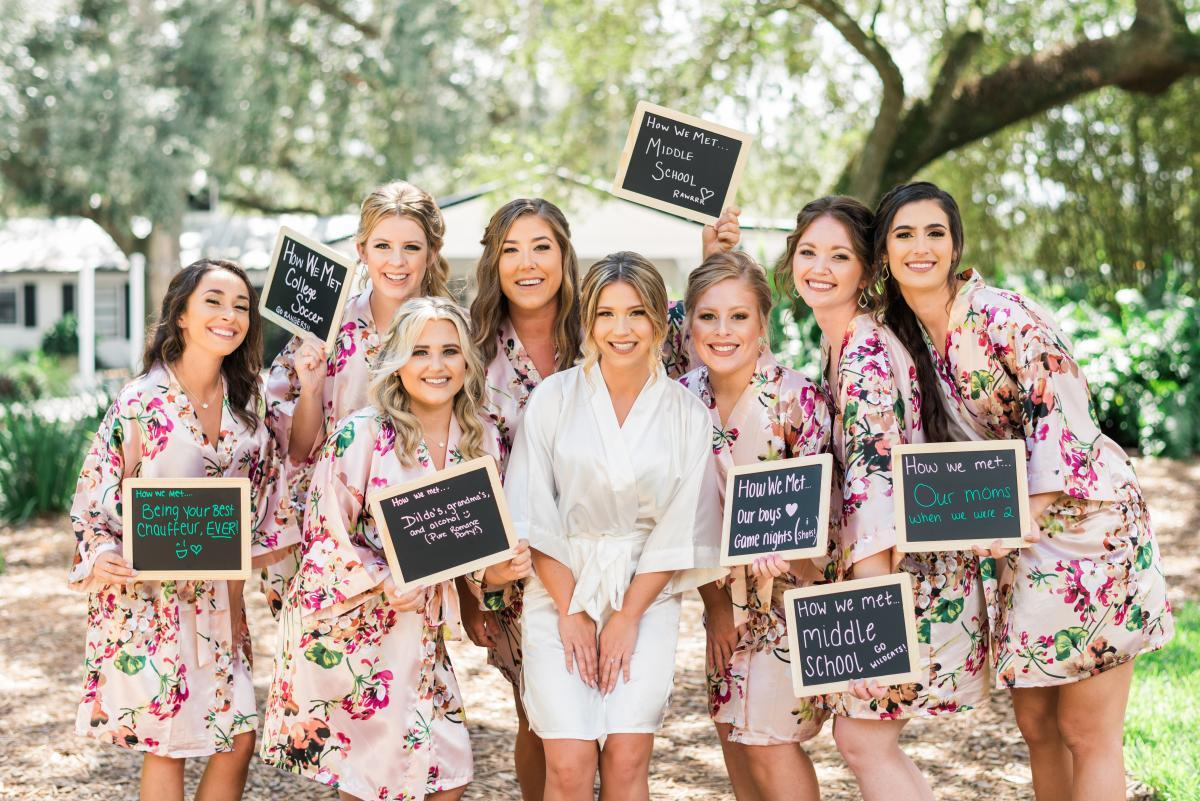 Fun bridesmaid photos