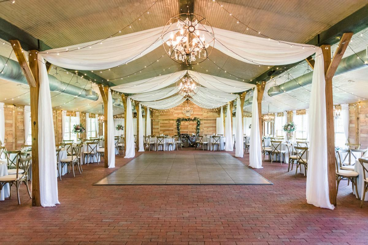 Luxury wedding reception decor