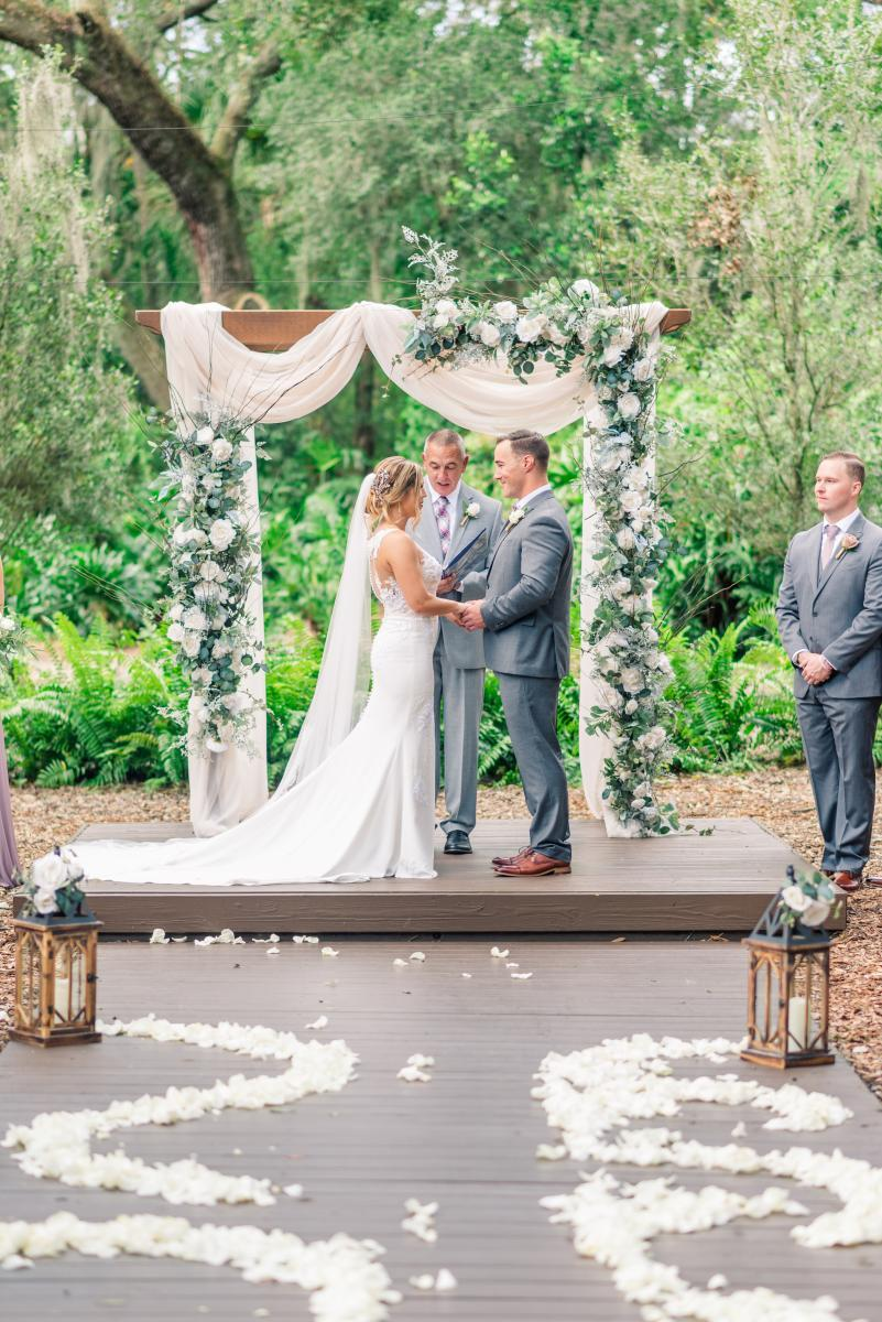 Florida ranch wedding ceremony