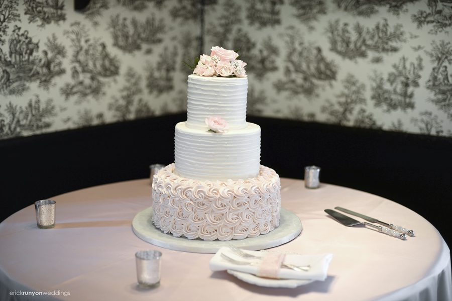 Their Three Tier Wedding Cake From Alessi S Bakery They Also Had Mini Key Lime Pies