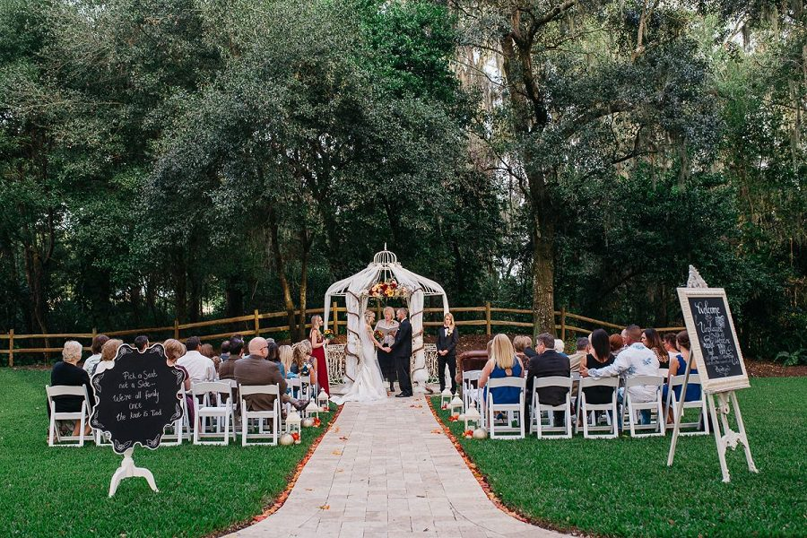 Their unforgettable wedding ceremony at the Gazebo.