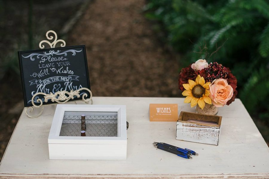 Guests were asked to leave well wishes for the couple.