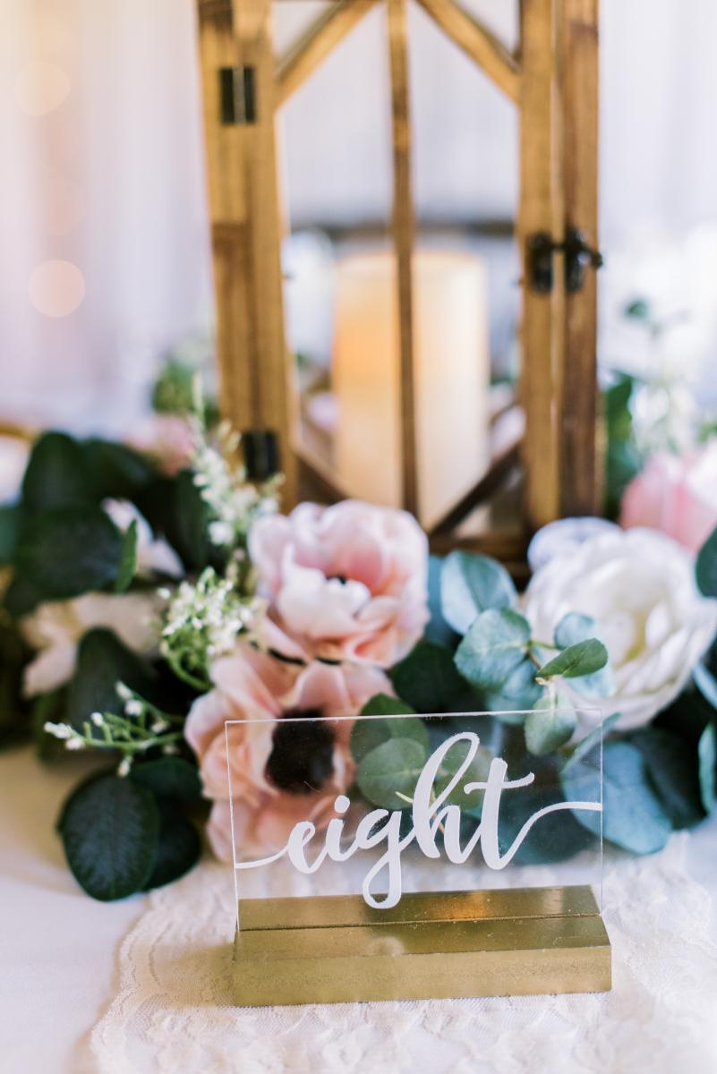 Romantic acrylic table numbers
