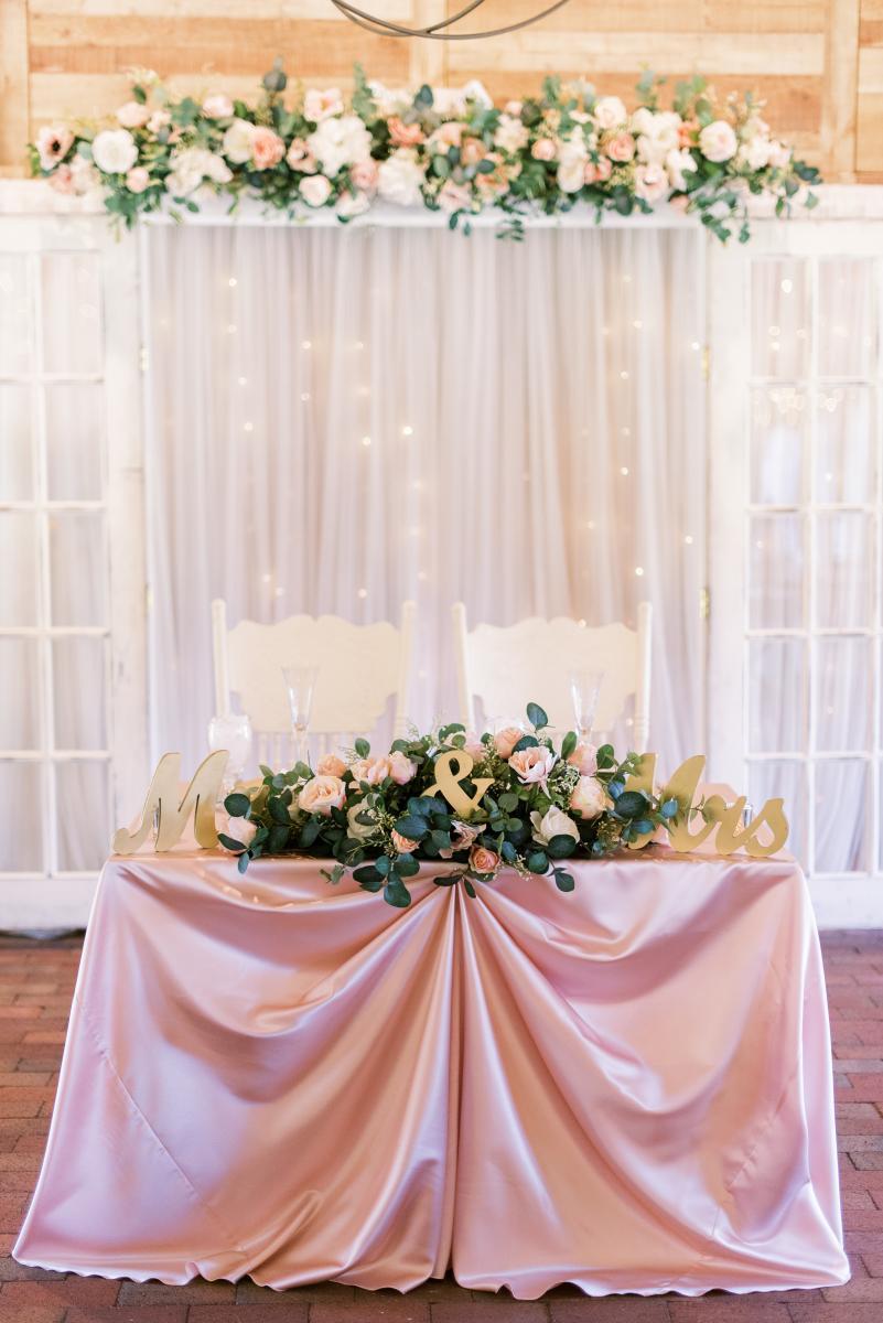 Ultra romantic sweetheart table