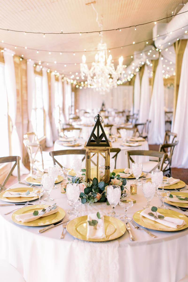 ultra romantic barn wedding