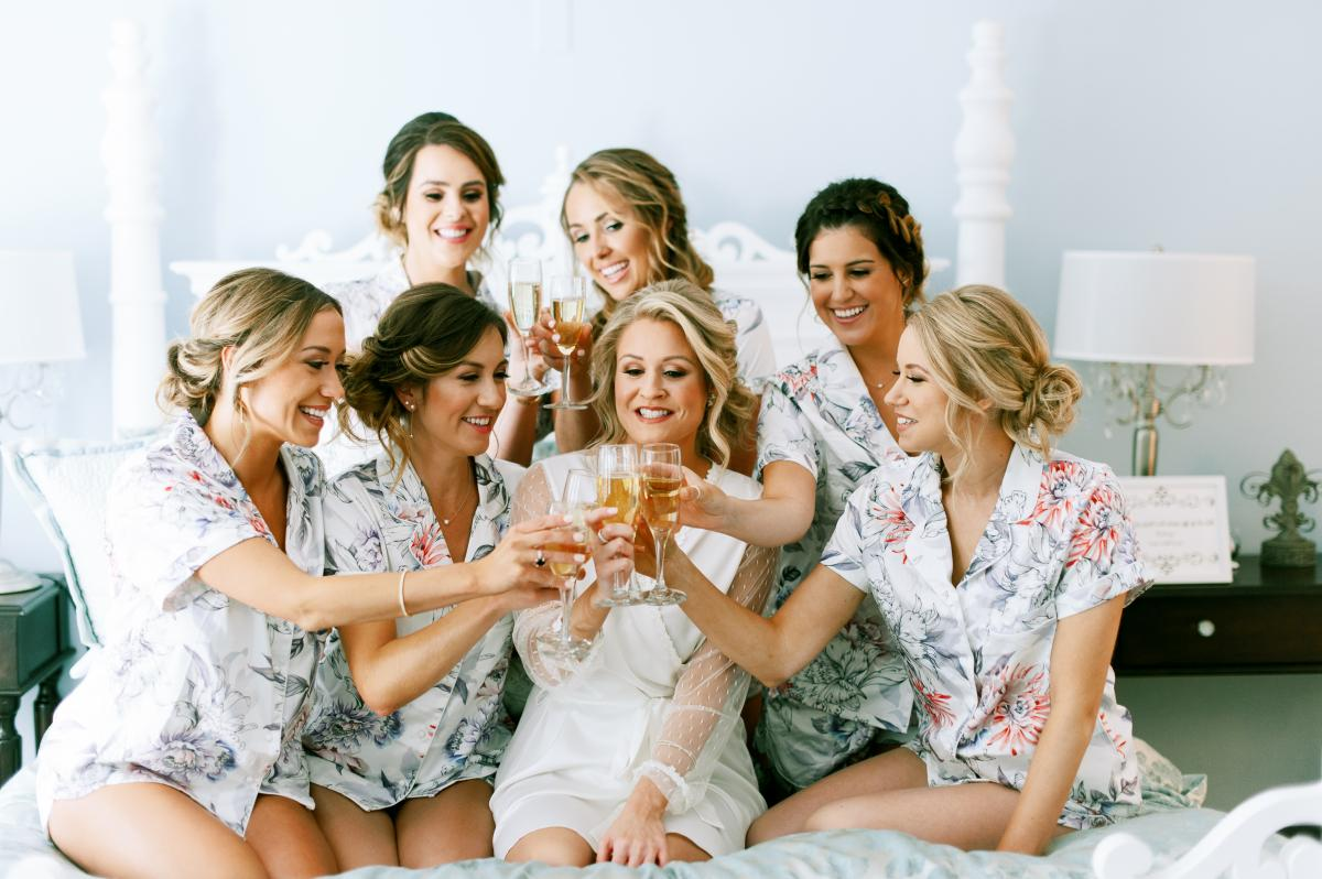 Krista and her bridesmaids