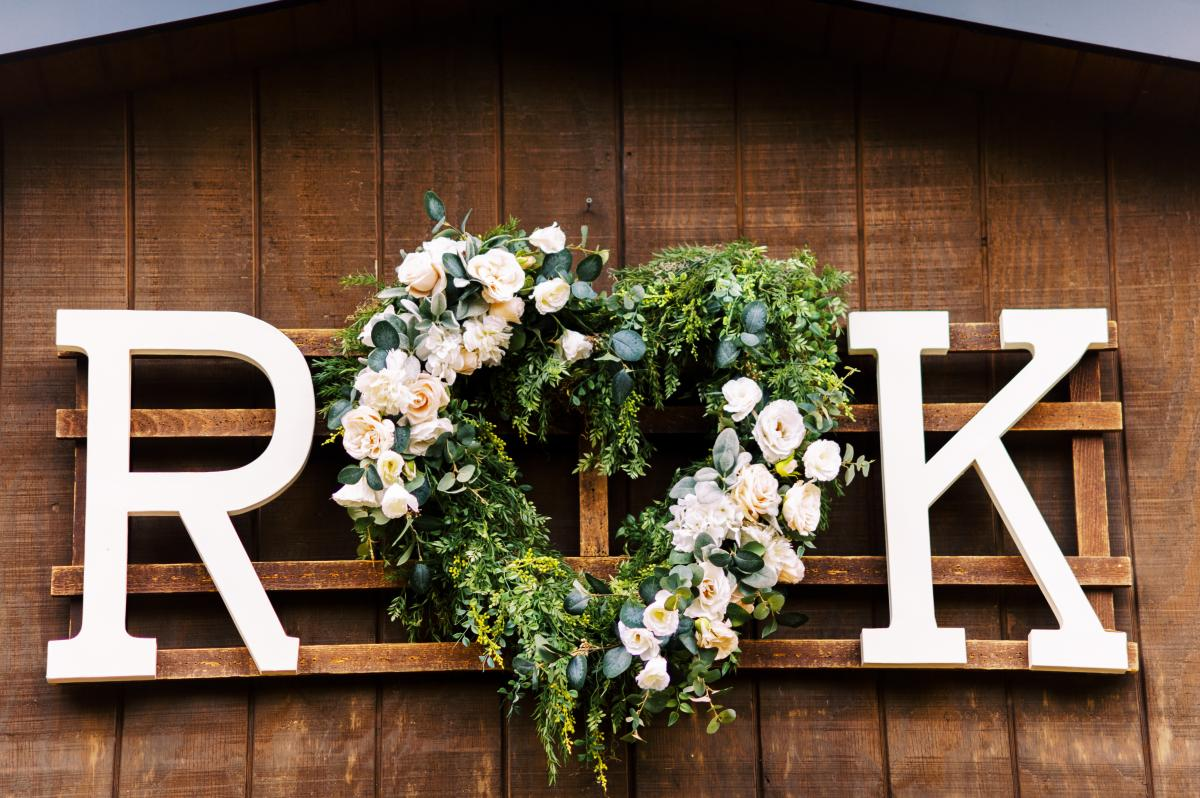 Wedding day details on the Carriage House Stable