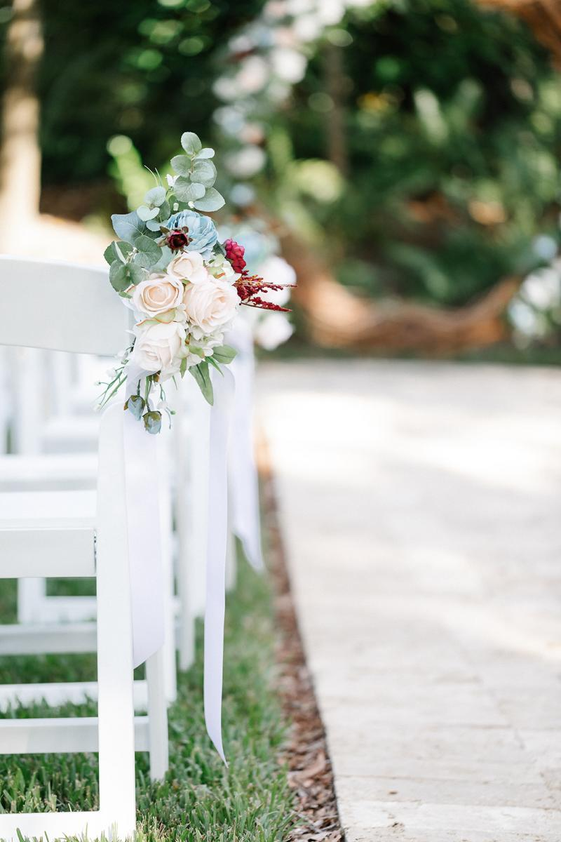 French Country Inn ceremony aisle decor