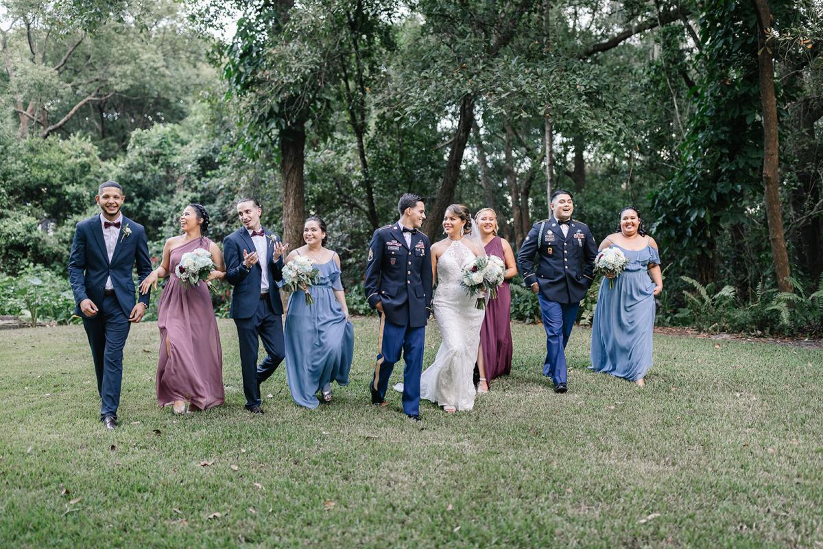 Ashley and Jonanthony's wedding party
