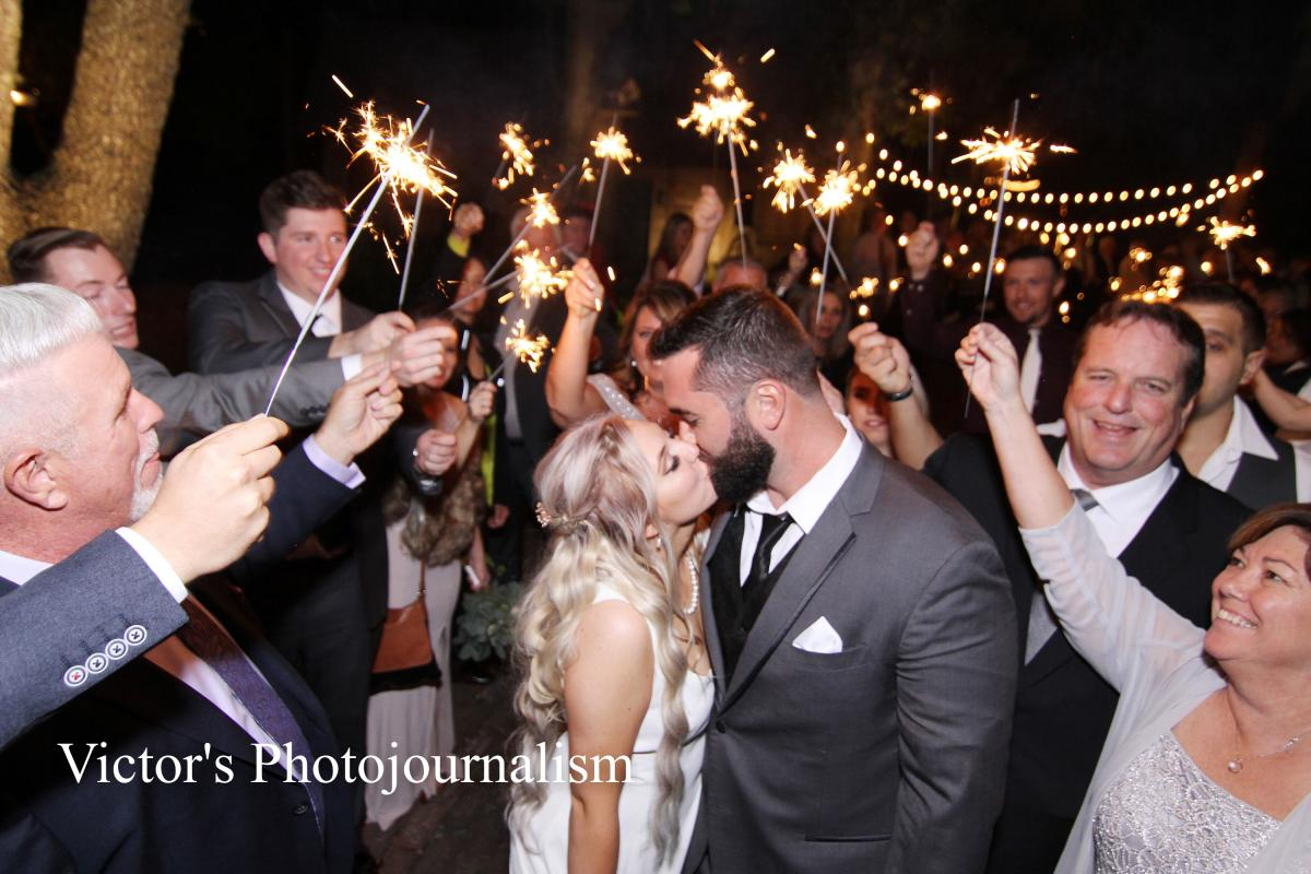 Jenna and Jeremy's sparkler exit