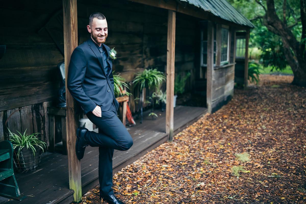 Nick in his groom's suit
