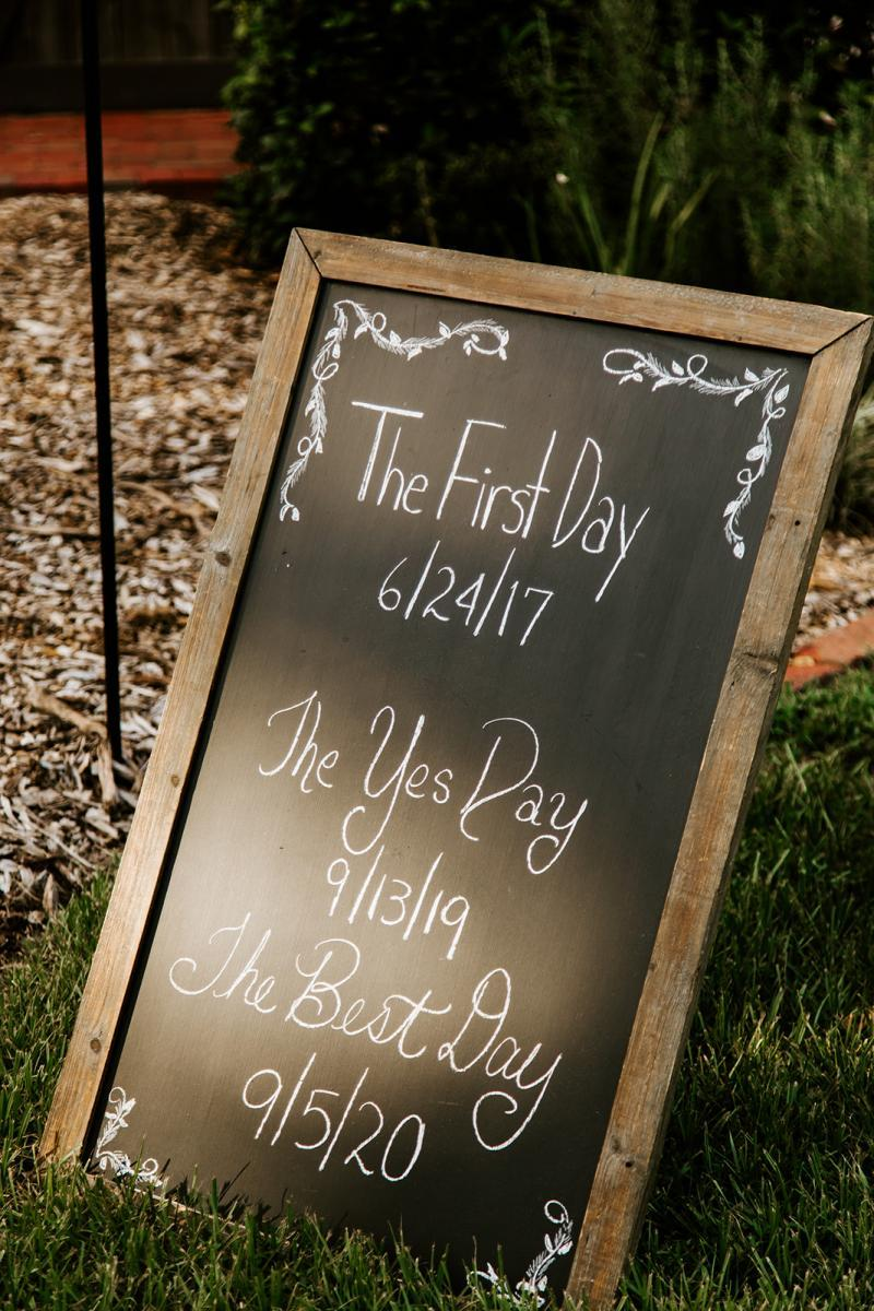 Personalized wedding ceremony signs