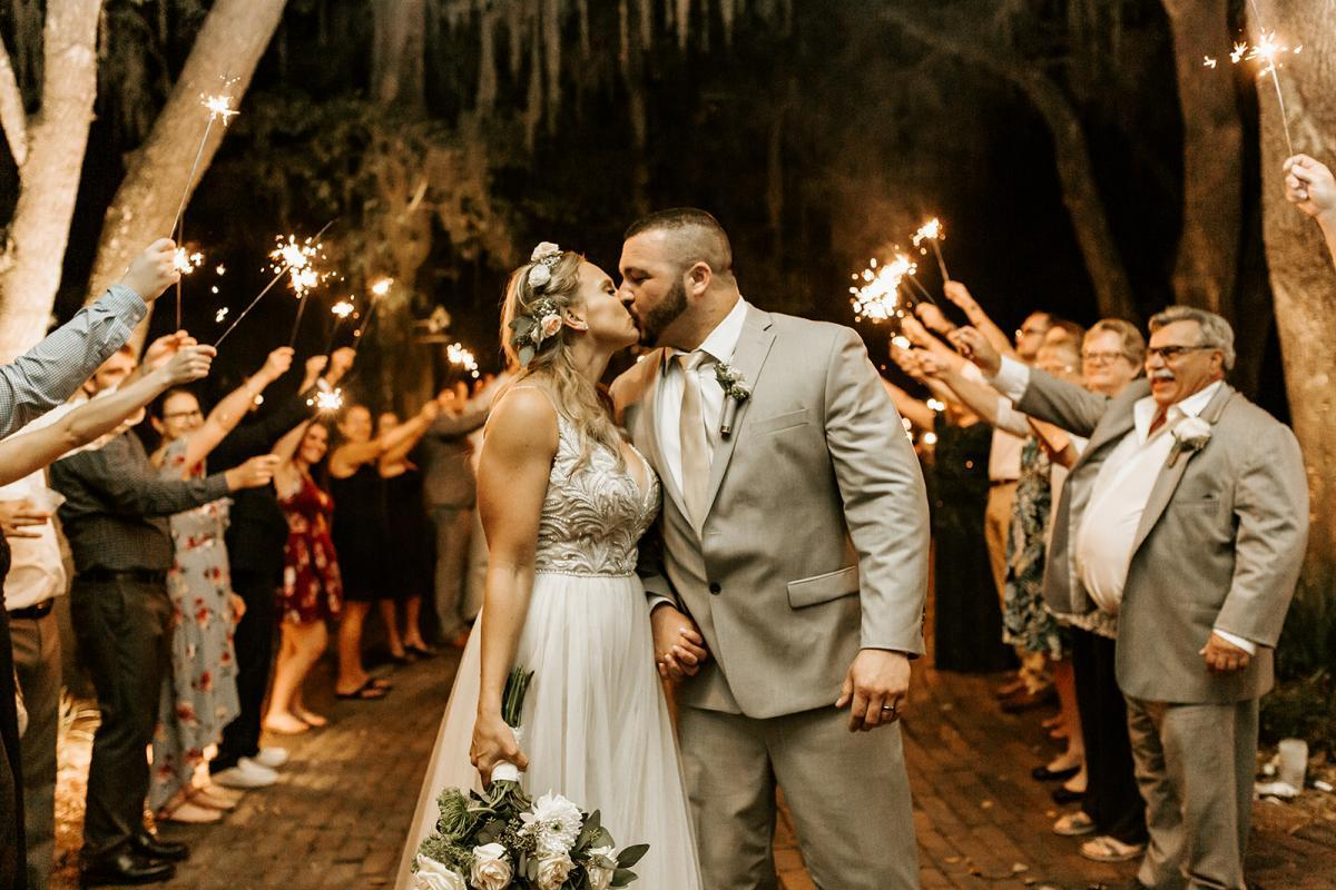 Sparklers for a grand wedding exit