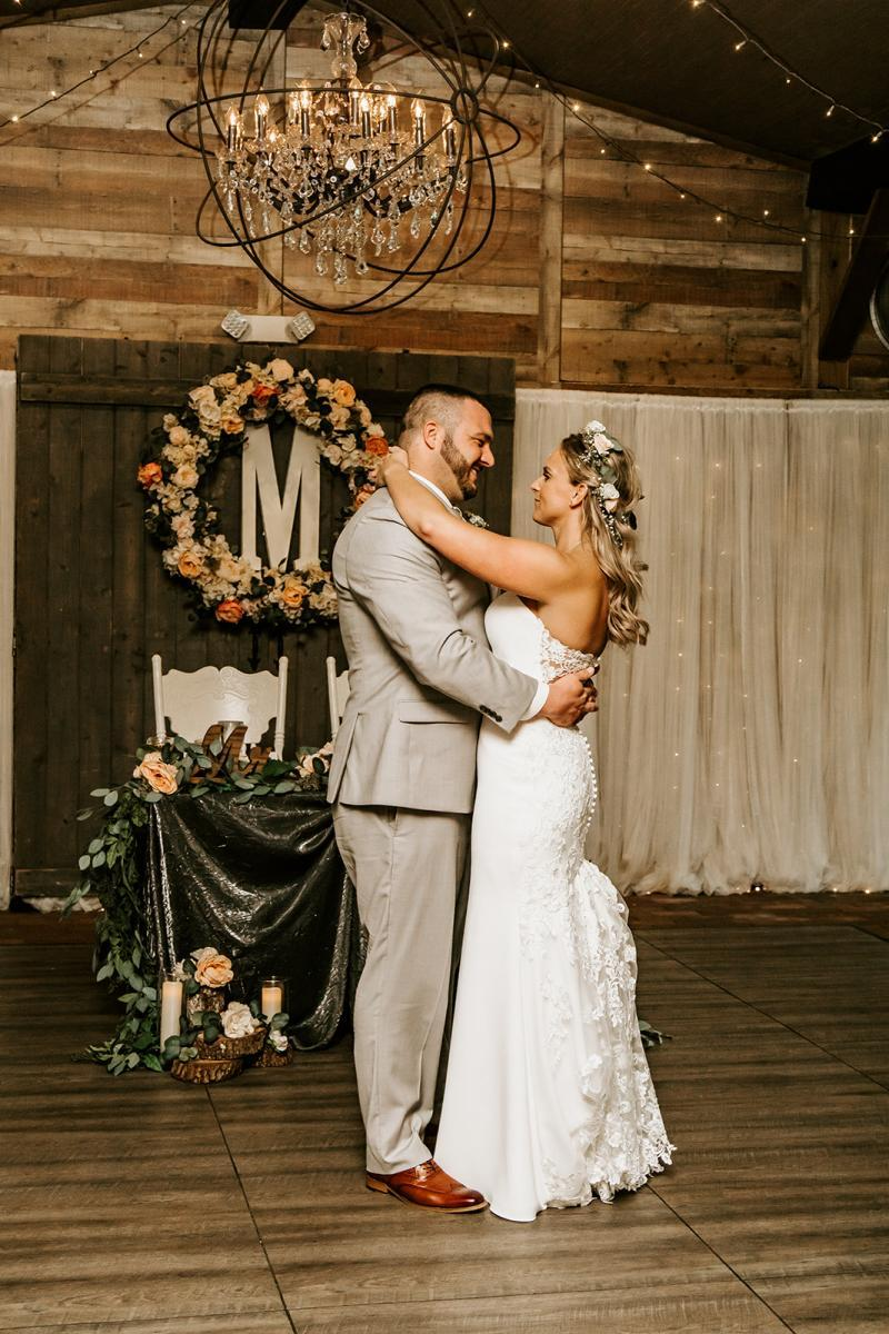 First dance inside our Carriage House Stable