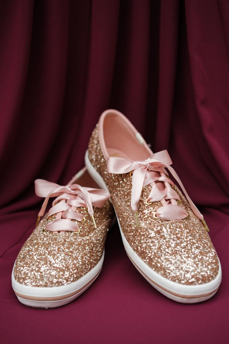 Kate Spade Keds rose gold wedding shoes