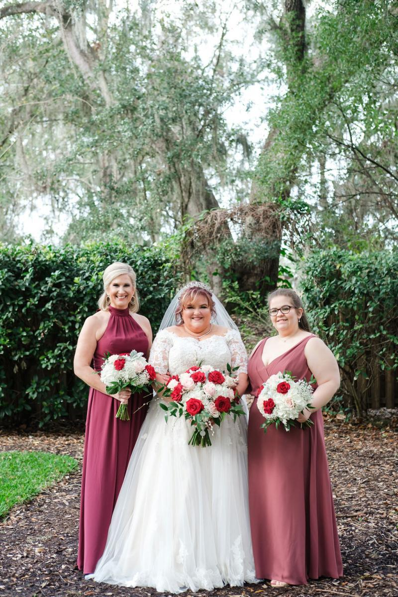 Meg and her bridesmaids