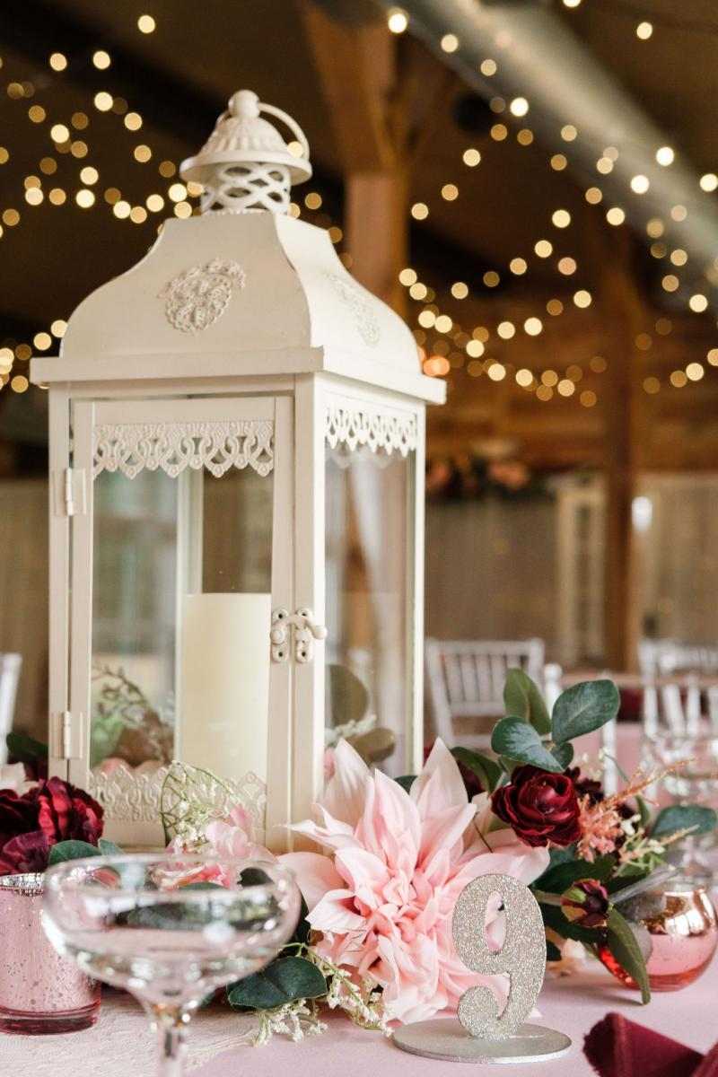 Elegant shabby chic wedding centerpieces