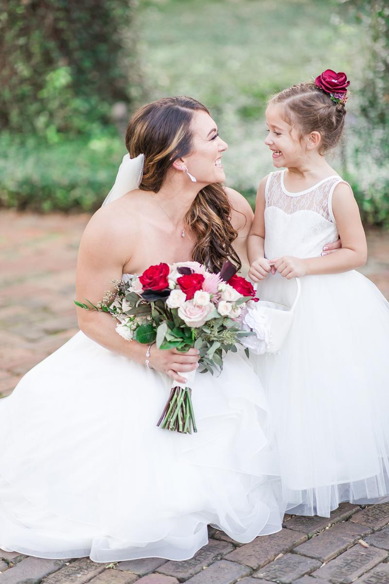 Savannah and the flower girl