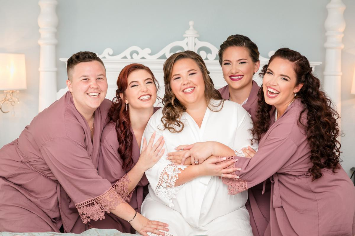 Bridesmaid robes for the bridal party
