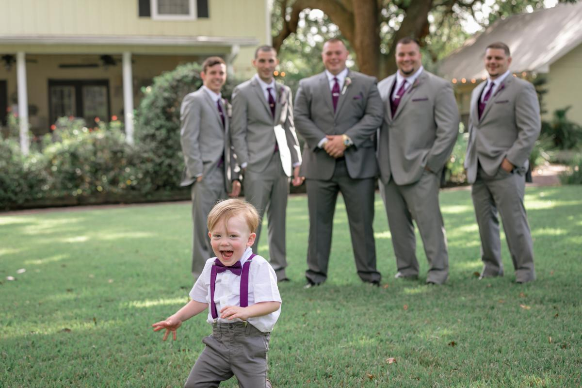Groomsmen and the ring bearer