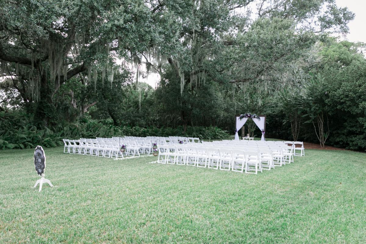 Secret Garden wedding ceremony