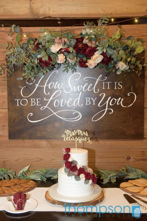 Gorgeous wedding cake by Alessi Bakery