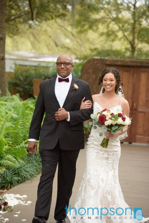 Shay and her father walking down the aisle