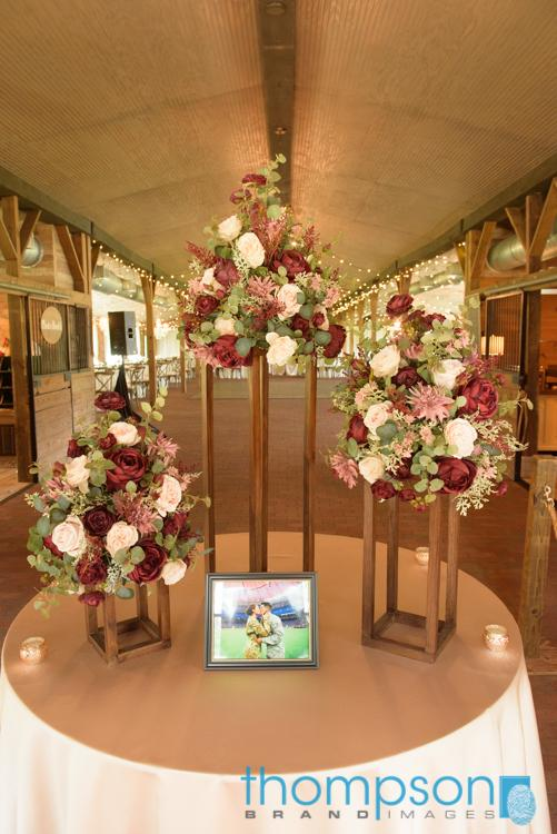 Valentines Day wedding entrance table