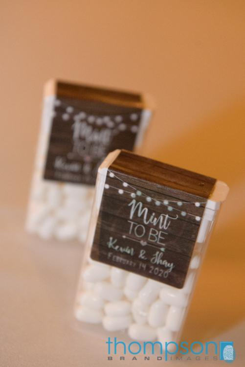 Mint to be wedding favor tic tacs