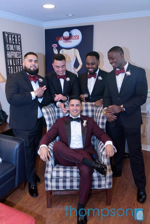 Kevin and his groomsmen