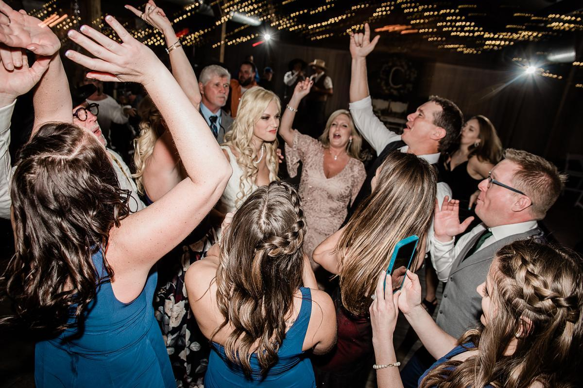 Packed dance floor inside the Carriage House Stable