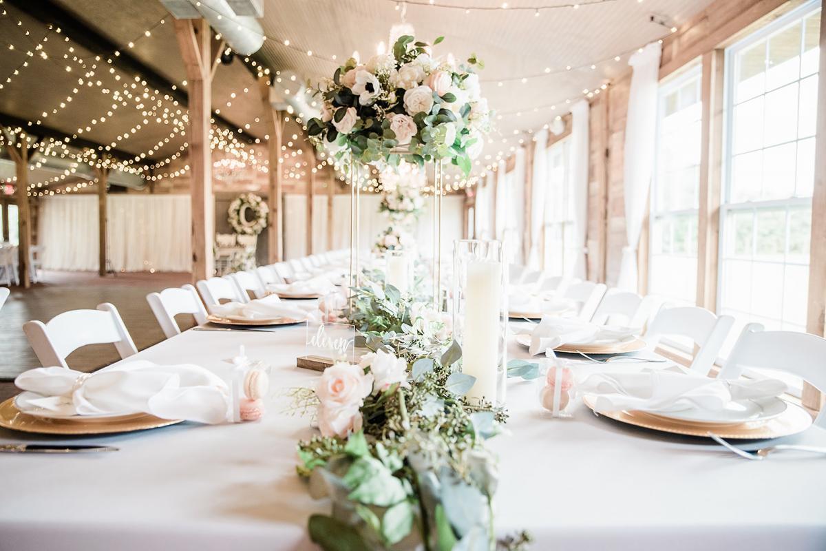 Elegant modern wedding centerpieces