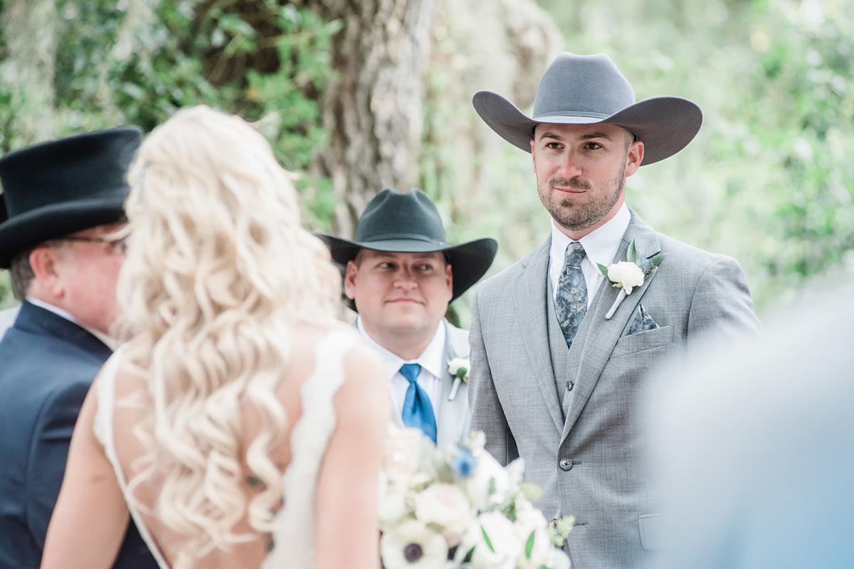 Preston's reaction when he sees his bride