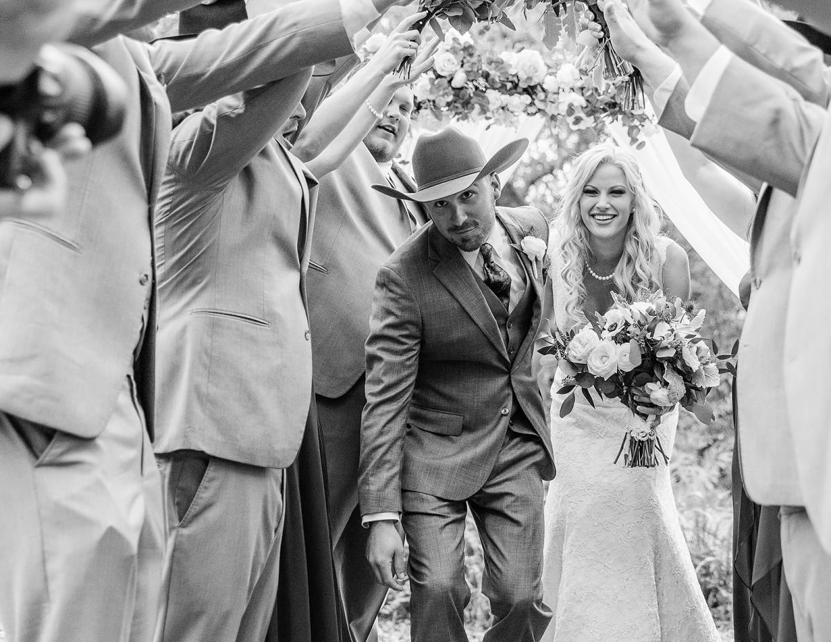 Shayla and Preston with their wedding party