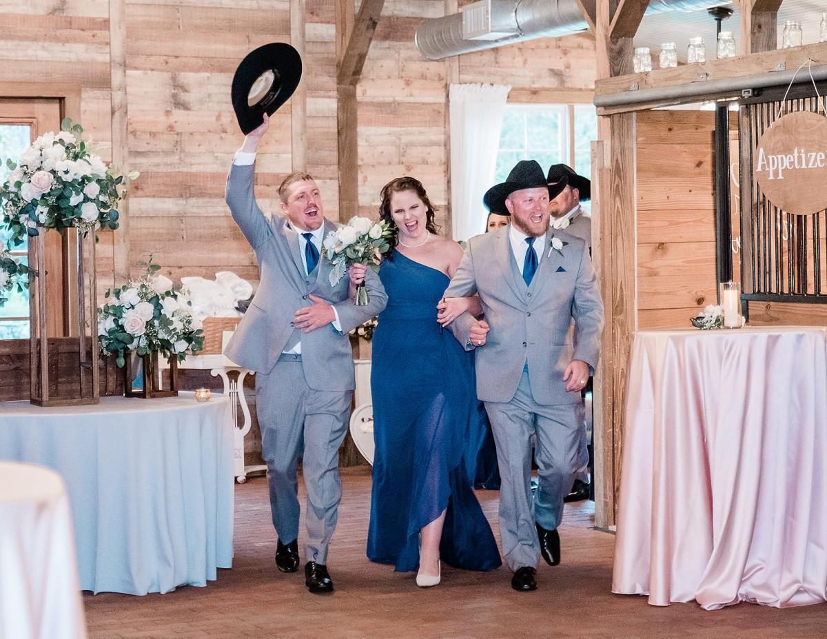 Wedding party reception introductions