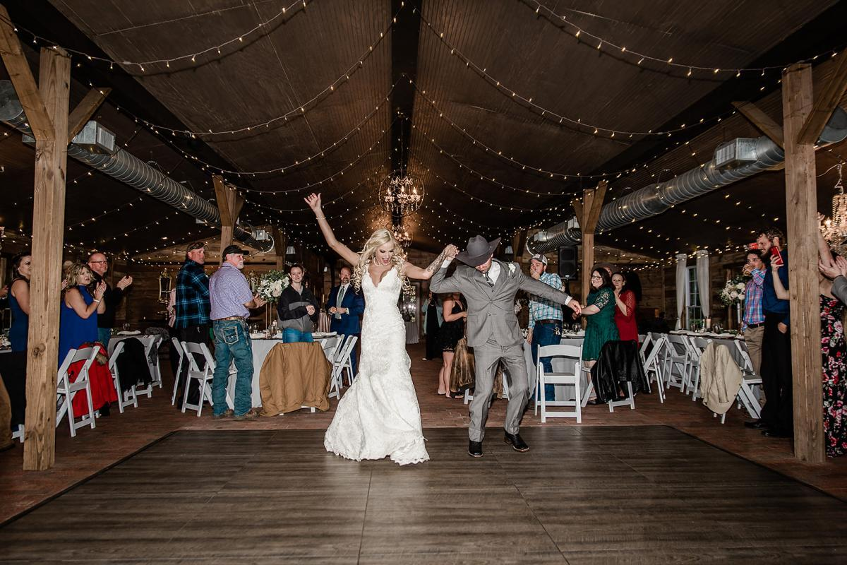 Shayla and Preston introduced into their reception