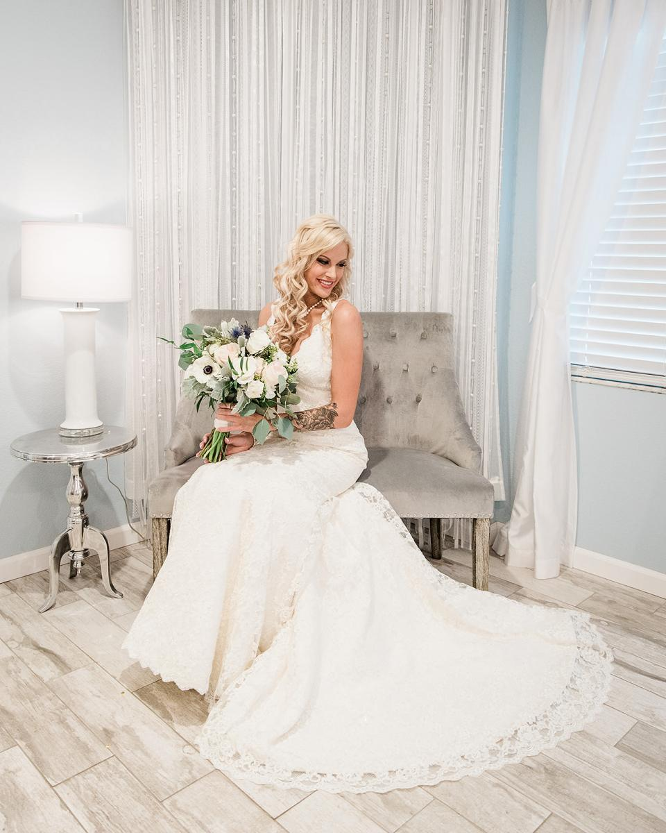 Shayla dressed in her lace southern gown