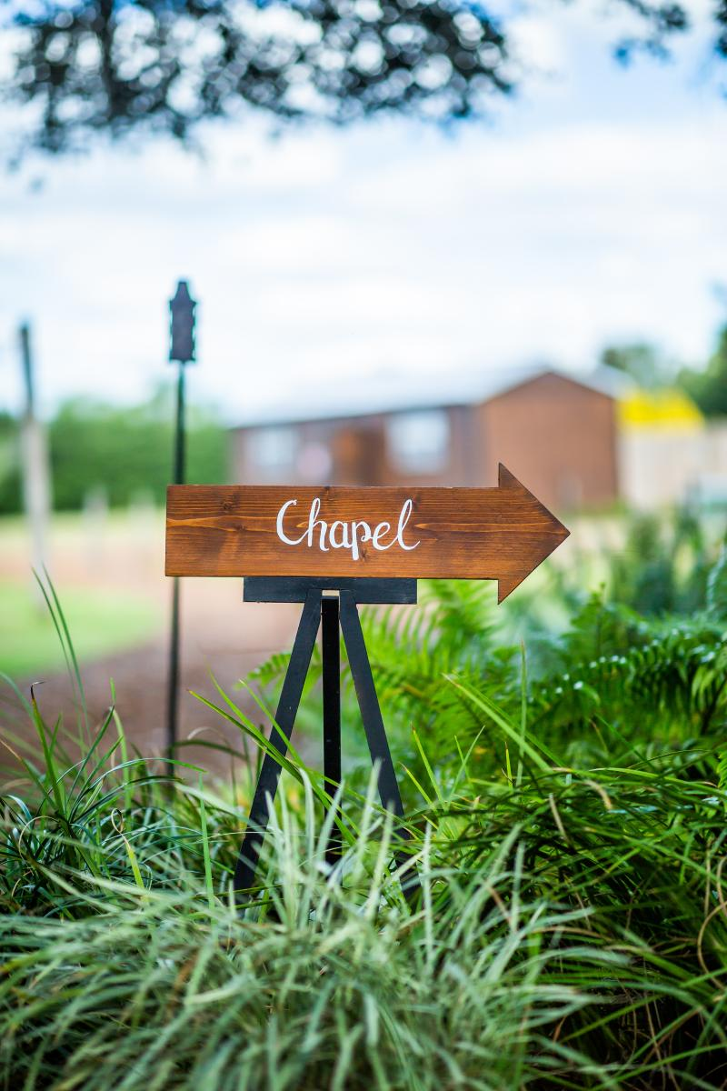 The Chapel sign