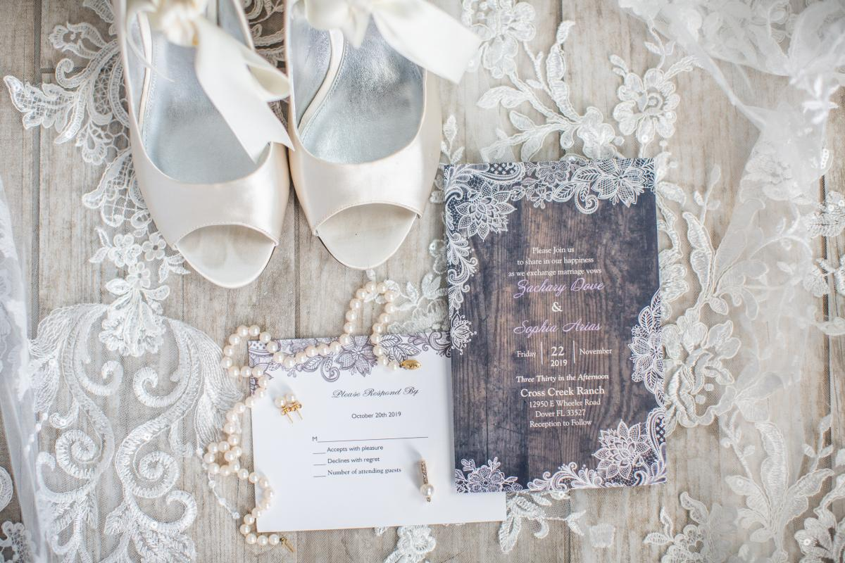 Rustic whimsical wedding invitations