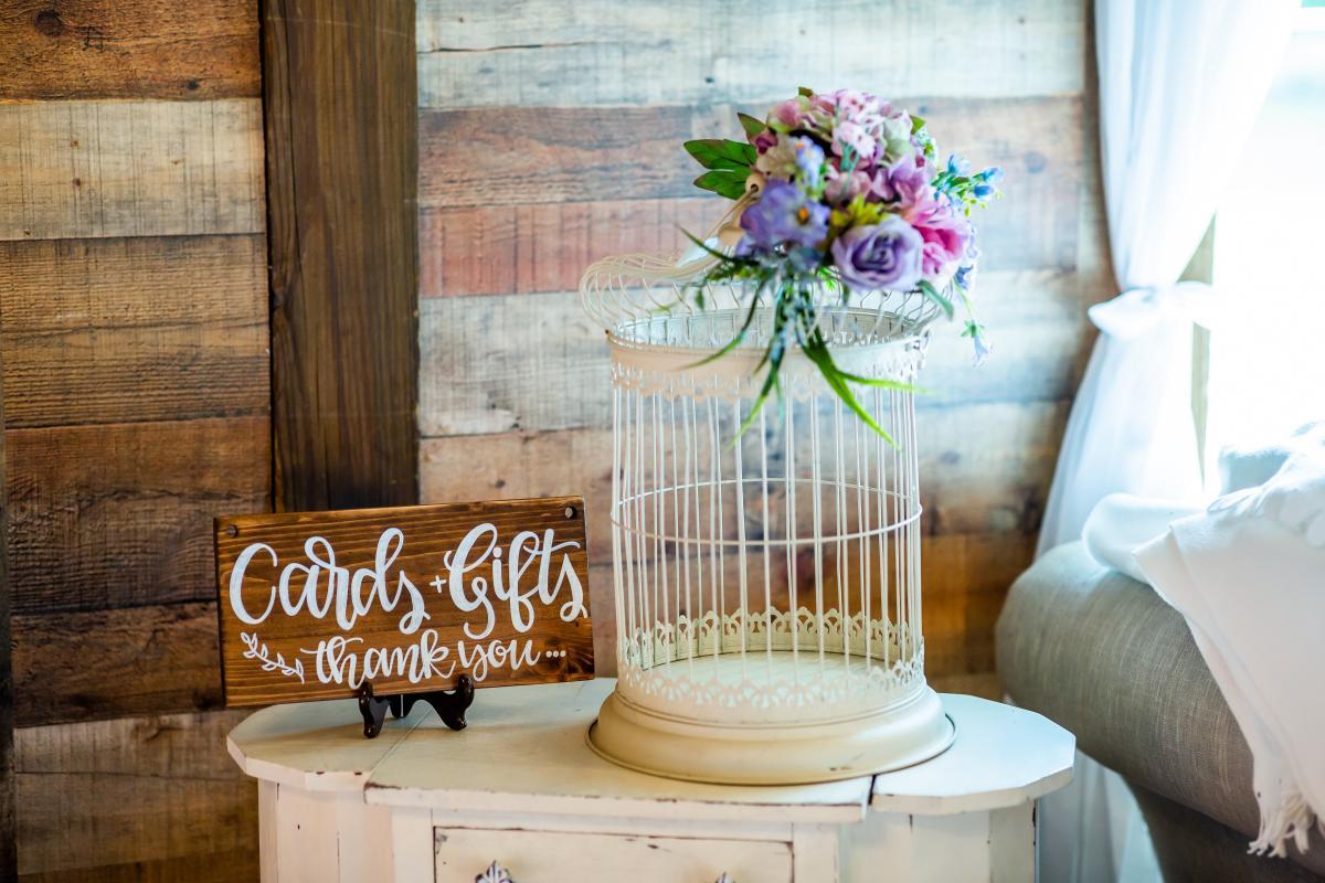 Whimsical birdcage card box