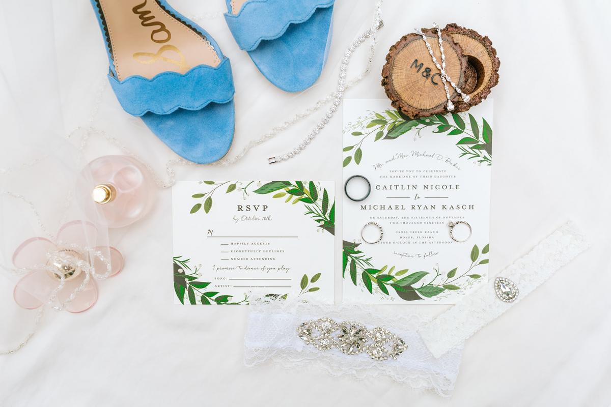 Caitlin & Michael's wedding day details