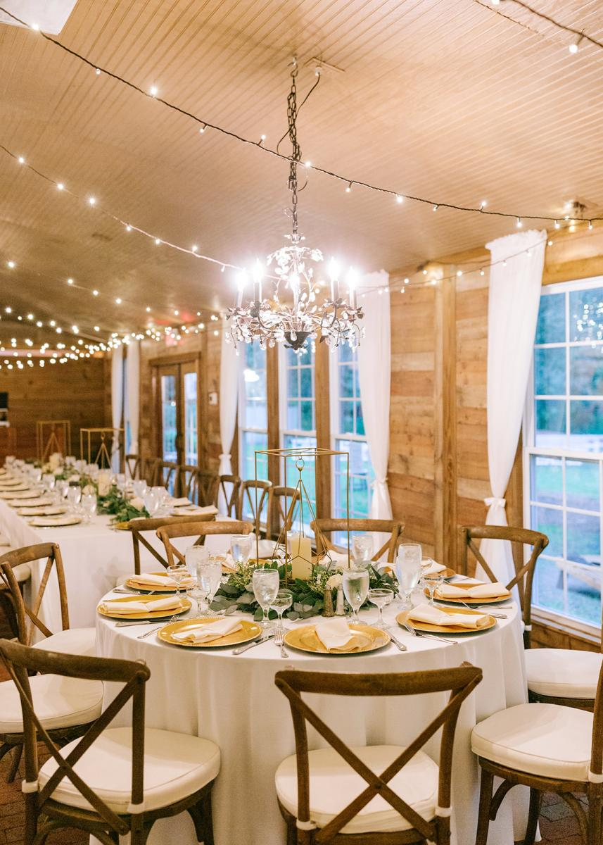 Wedding reception decor and inspiration in the Carriage House Stable