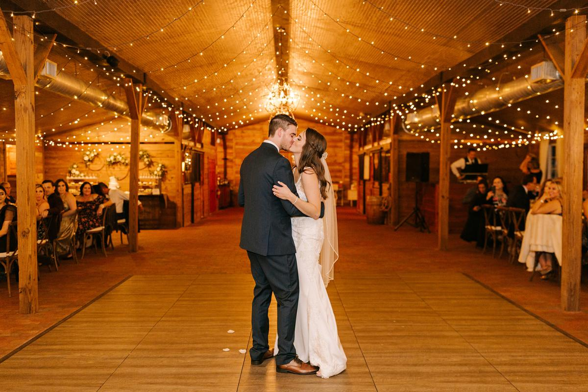 Caitlin & Michael's first dance inside the Carriage House Stable