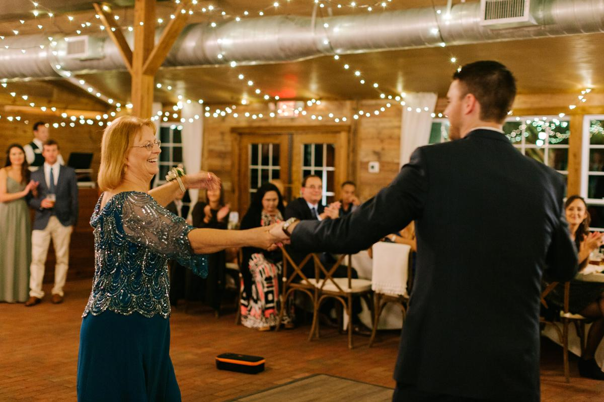 Michael and his mom during the mother son dance