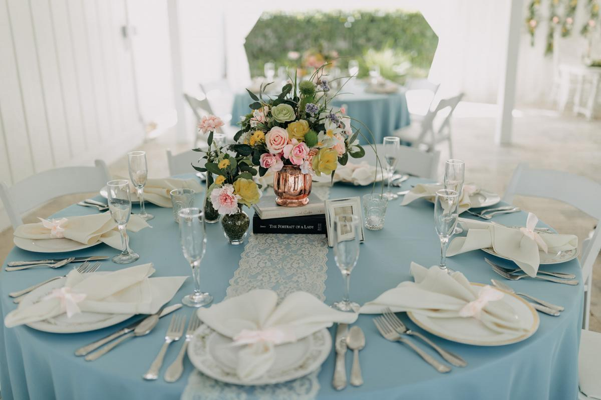 Garden inspired wedding decor