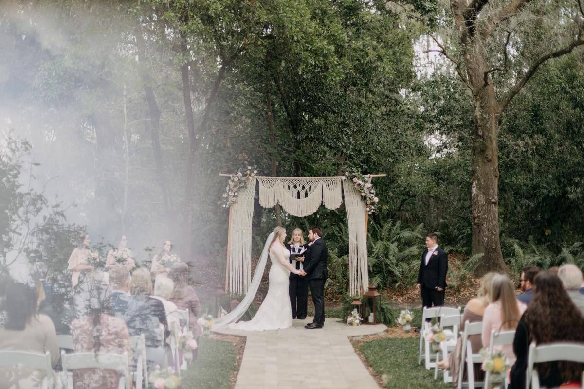 Sarah and Grant's wedding ceremony