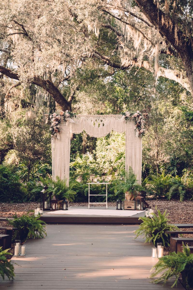 Boho garden micro wedding